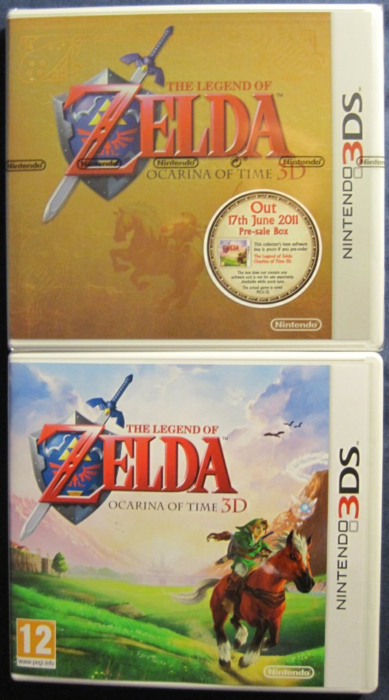 Zelda Ocarina Of Time 3D limited edition box - 3DS
